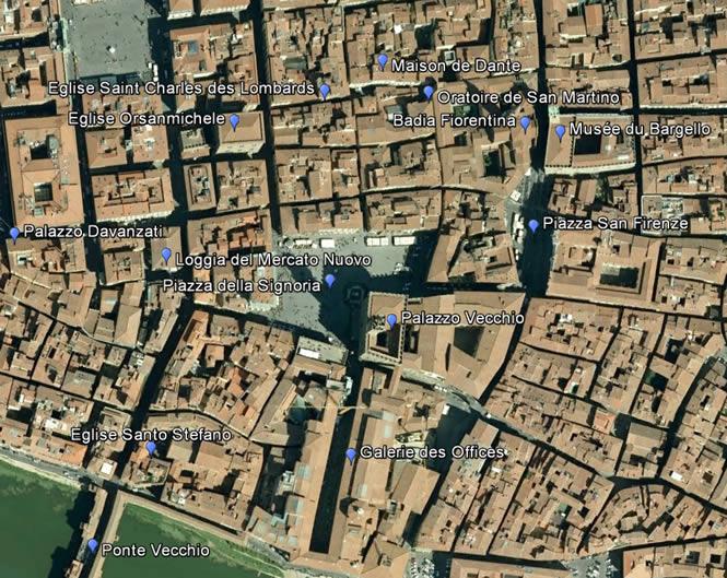 Carte Du Centre De Florence Au Dus Duomo